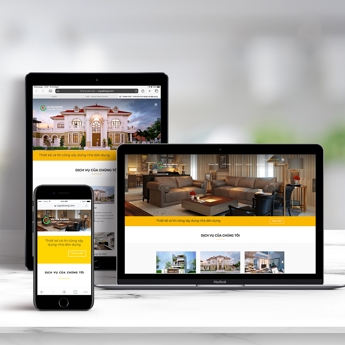 the vugiakhang website build by Uway Technology